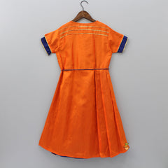 Pre Order: Orange Asymmetric Dress