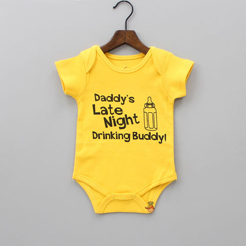 Organic Yellow Daddy's Buddy Bodysuit