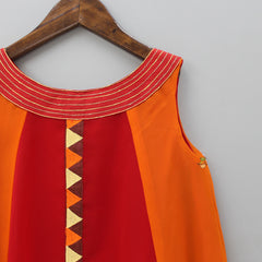 Pre Order: Orange And Red Tunic