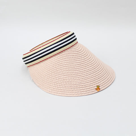 Peach Cutwork Visor Cap