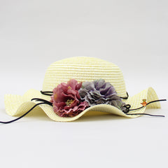 Cutwork Light Yellow Floral Hat