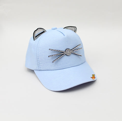 Kitten Whiskers Light Blue Cap