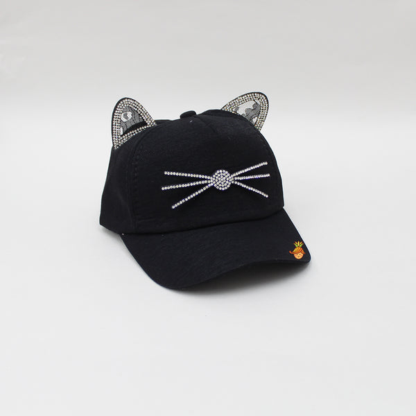Kitten Whiskers Black Cap