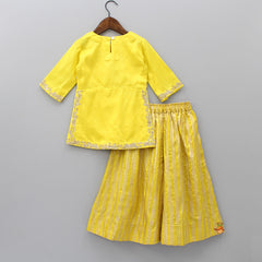 Pre Order: Yellow Kurta And Palazzo