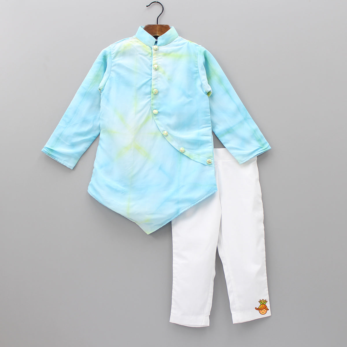 Tie And Dye Kurta With Pants