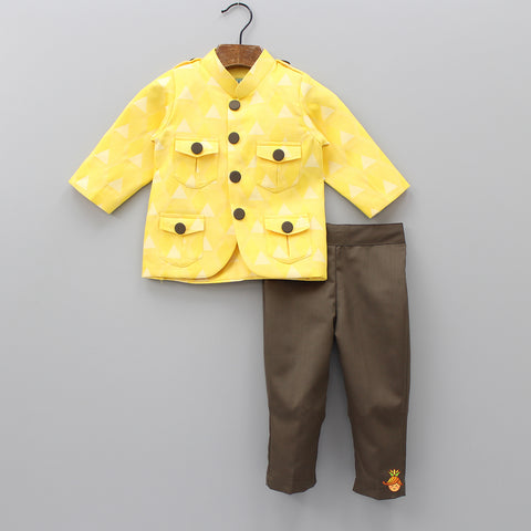 Pre Order: Yellow Triangle Jacket With Pants