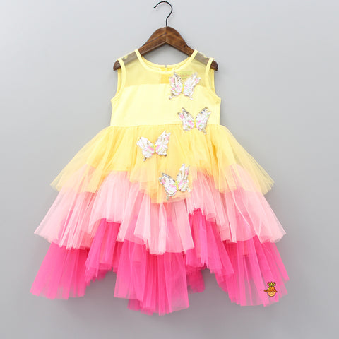 Pre Order: Sequin Butterfly Frilly Dress