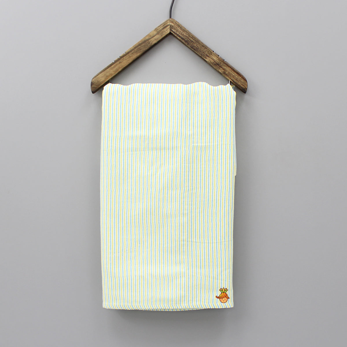 Organic Blue And Yellow Striped Towel