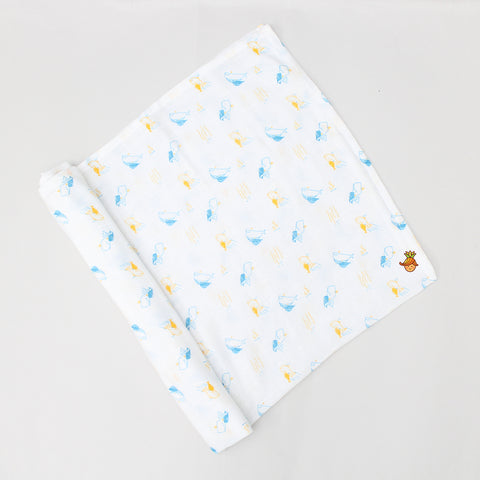 Organic Ocean Theme Swaddle