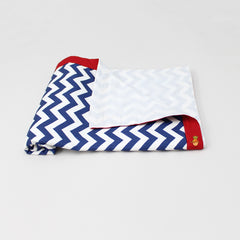 Swaddle With Blue Chevron Pattern