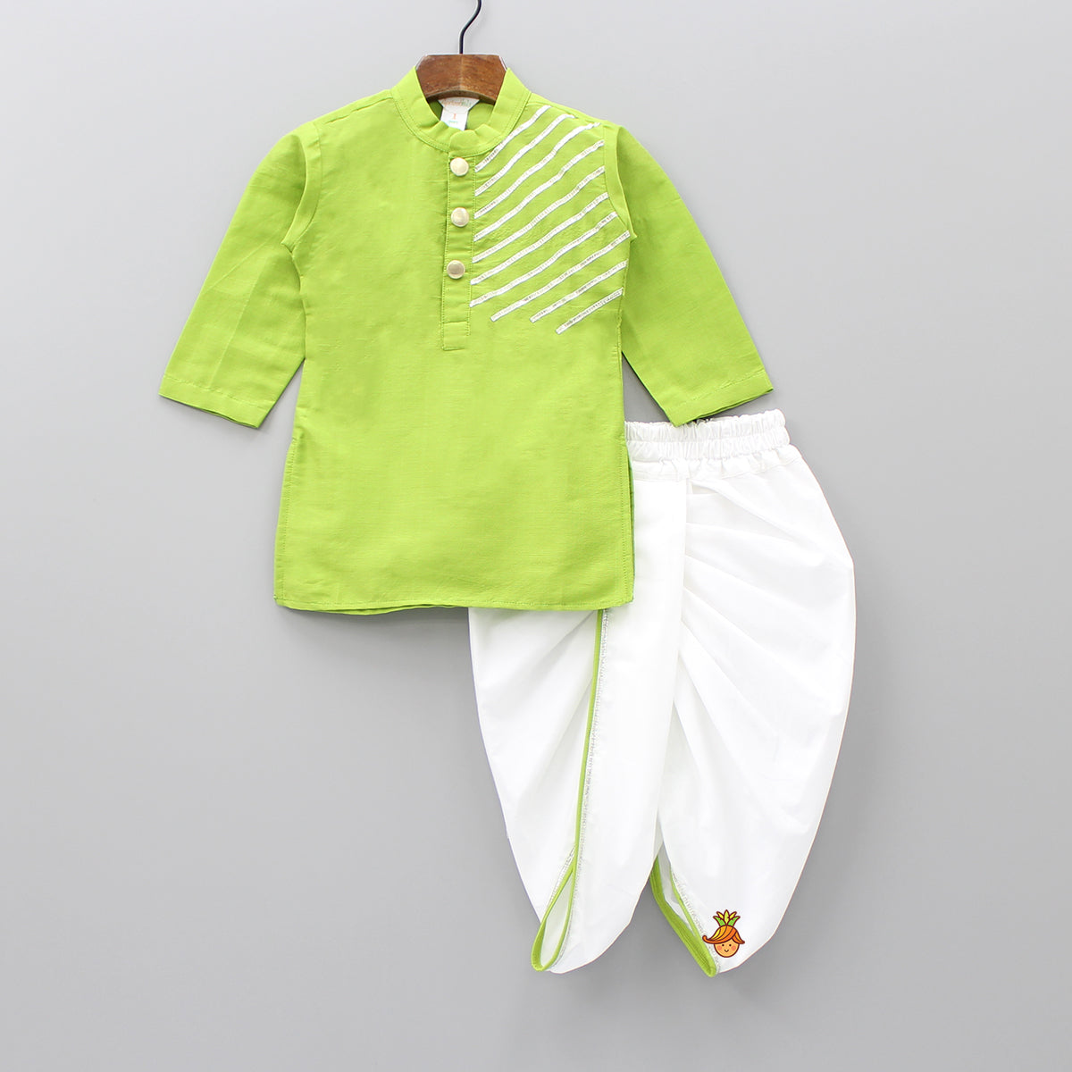 Green Kurta And Dhoti Set