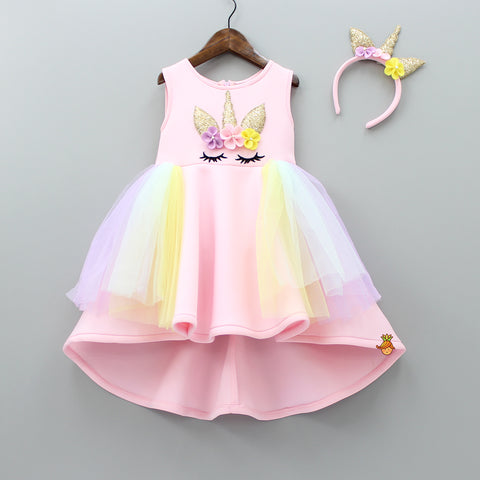 Pre Order: Pink Unicorn Up And Down Dress
