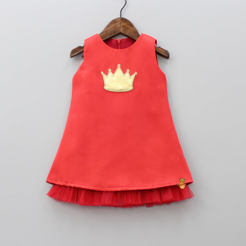 Red Crown Patch Dress