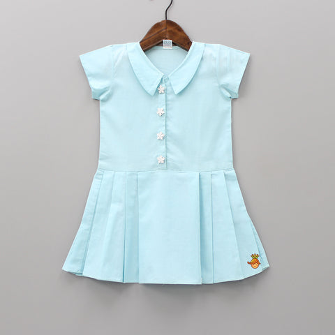 Pre Order: Light Blue Pleated Dress