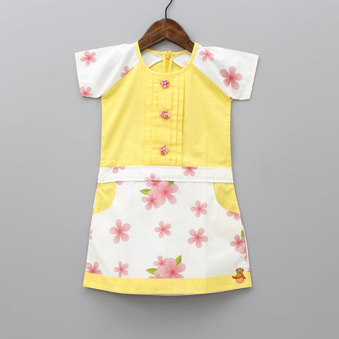 Pre Order: Yellow And White Floral Dress