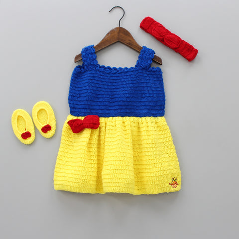Crochet Snow White Theme Dress