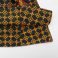 Black Kedia And Yellow Dhoti Set
