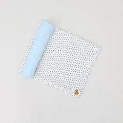 Organic Mummy Love And Star Print Swaddle - Set Of 2