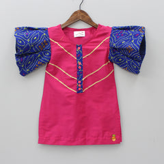 Pre Order: Fuschia Pink Kurta And Sharara