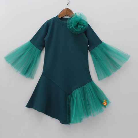 Teal Green Frilly Dress