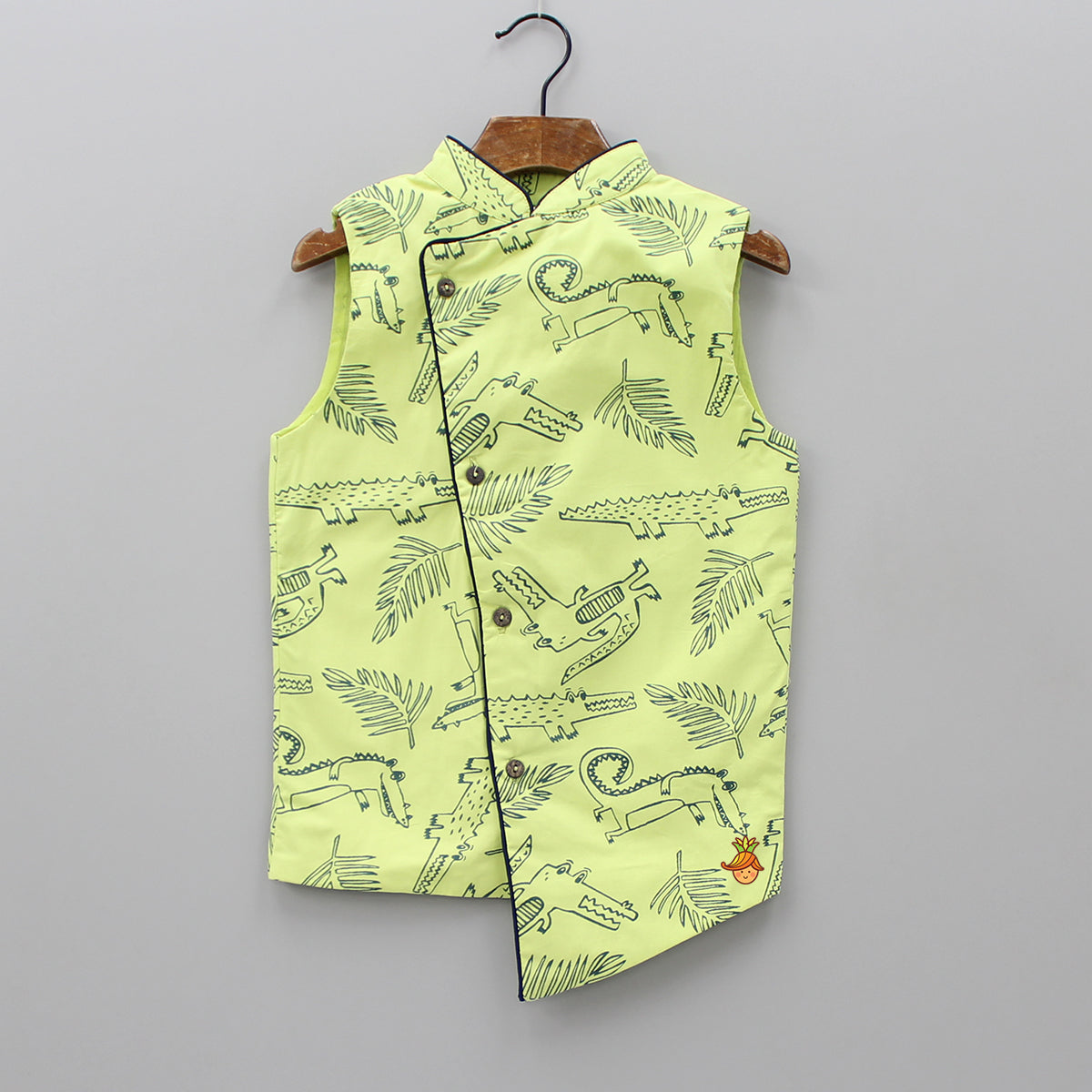 Crocodile Print Green Jacket