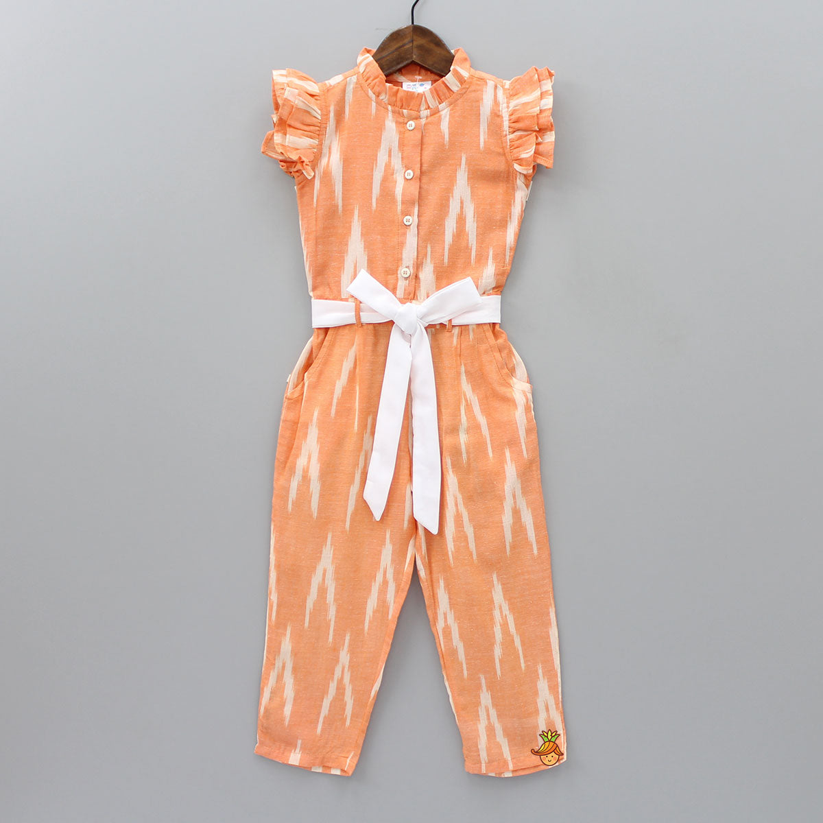 Light Orange Ikat Jumpsuit