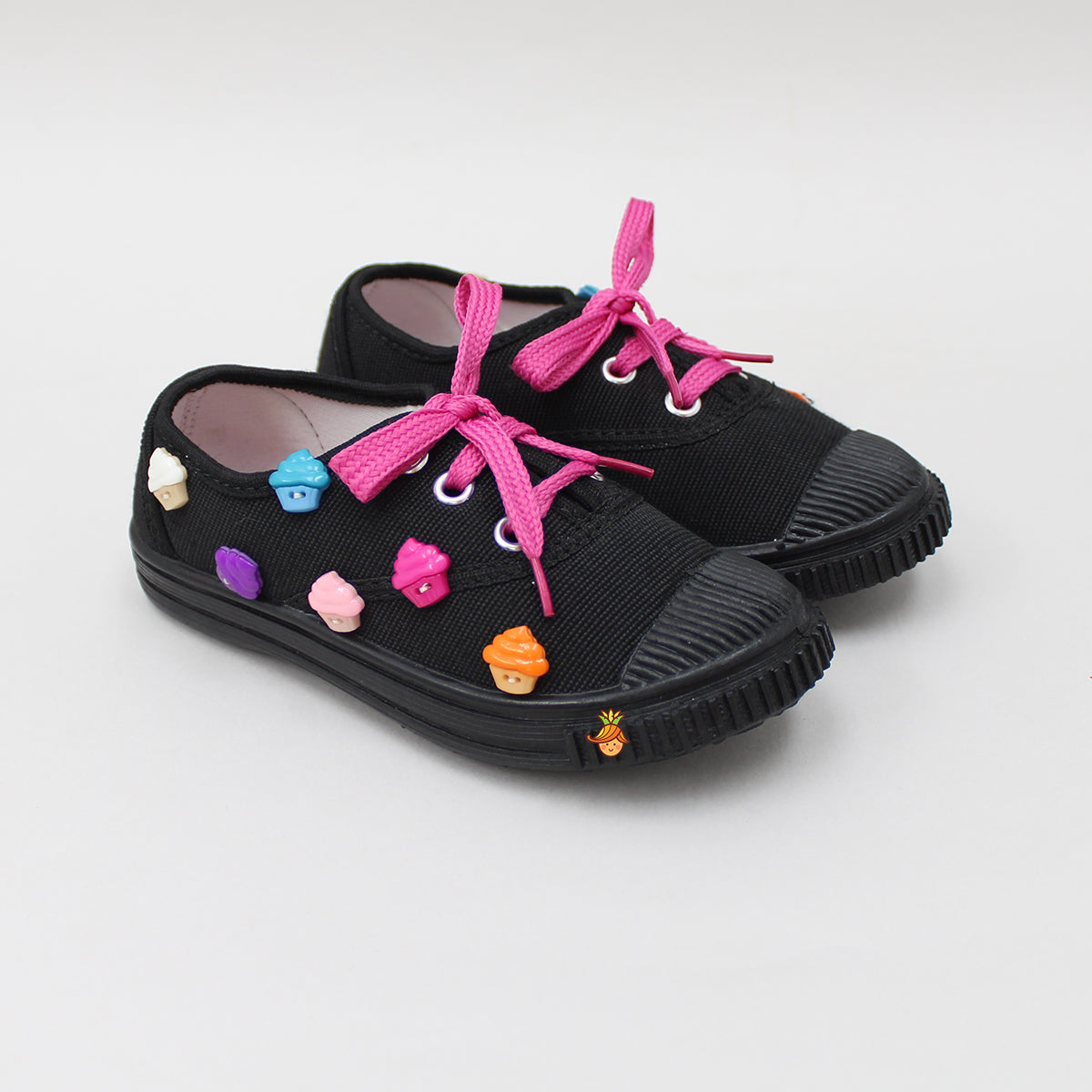 Cute Cupcake Black Shoes