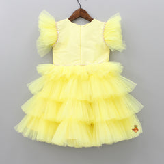 Pre Order: Yellow Frilly Layered Dress