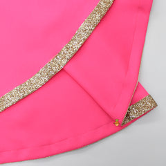 Black Velvet Choli And Pink Scuba Lehenga With Frilly Dupatta