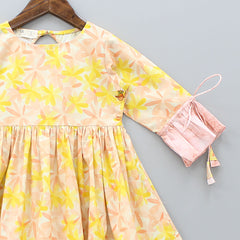 Organic Peach Floral Bloom Dress