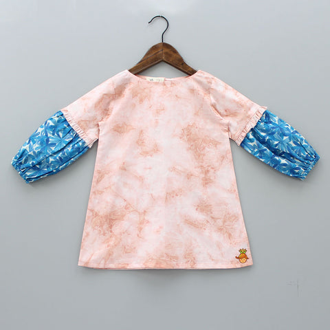 Organic Peach Tie And Dye Dress