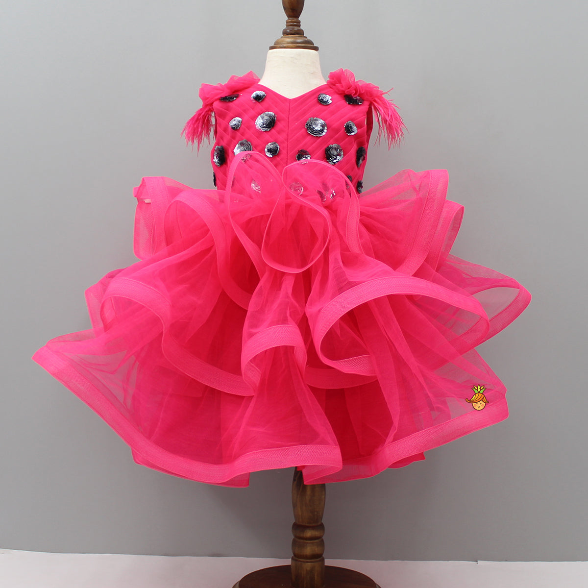 Pre Order: Hot Pink Frilly Dress