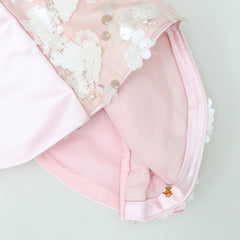 Pre Order: Light Pink Sequin Top And Short Skirt