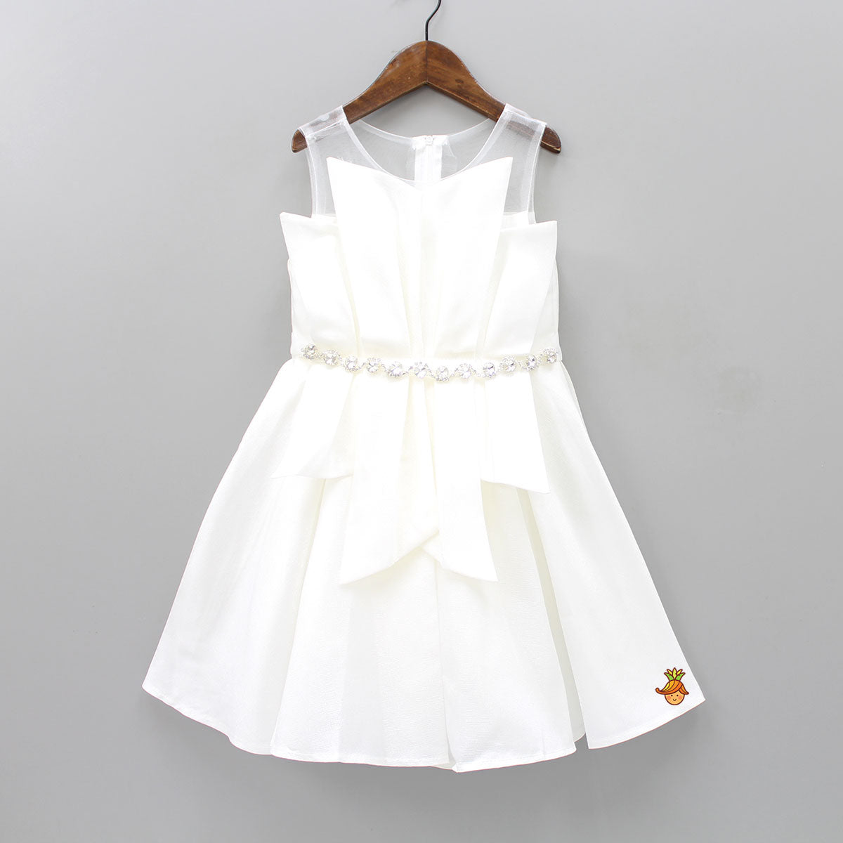 Party Princess Knee Length White Dress