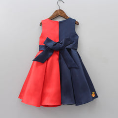 Dual Colour Knee Length Dress