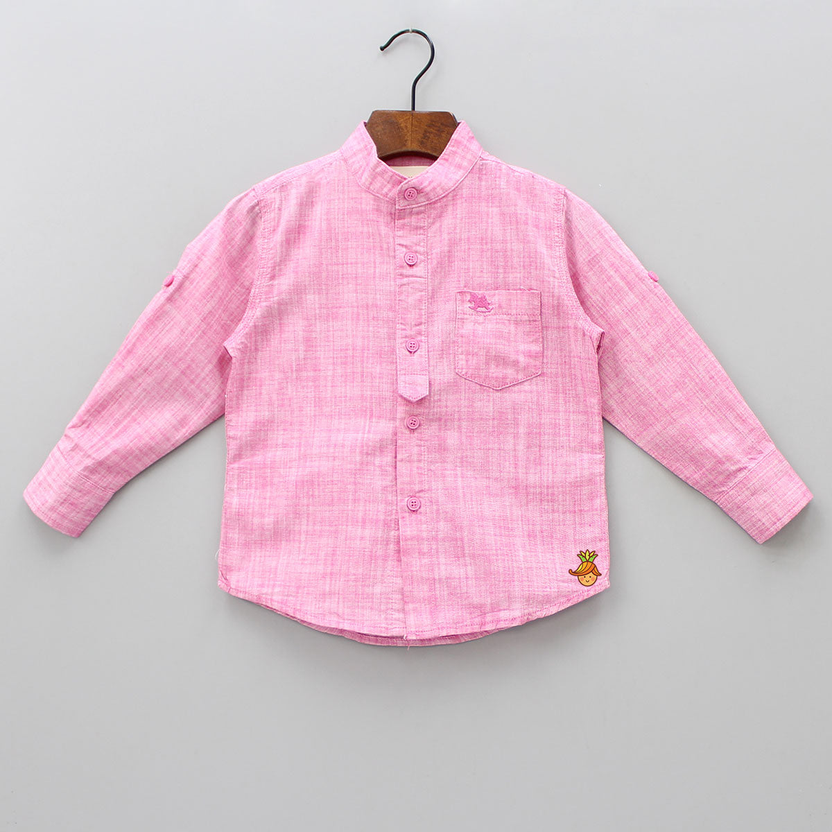 Pink Shirt With Full Sleeves