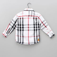 Checks Maze Shirt - White