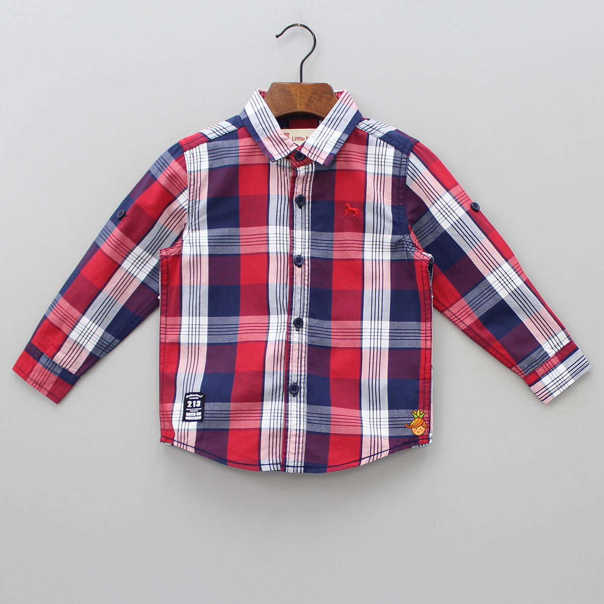 Red And Blue Checks Shirt