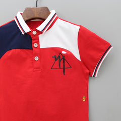 Triangle Fun Red Polo