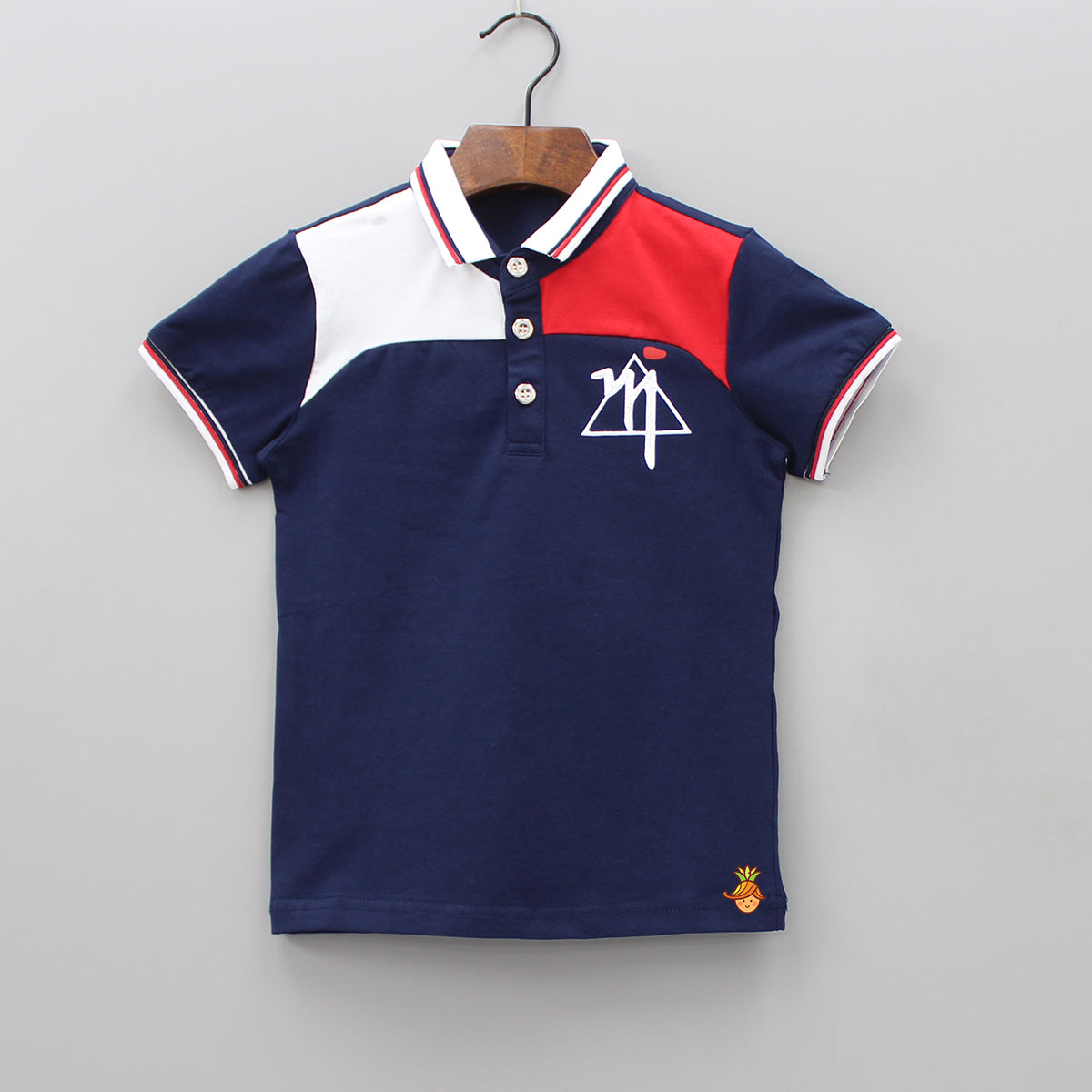 Triangle Fun Navy Blue Polo