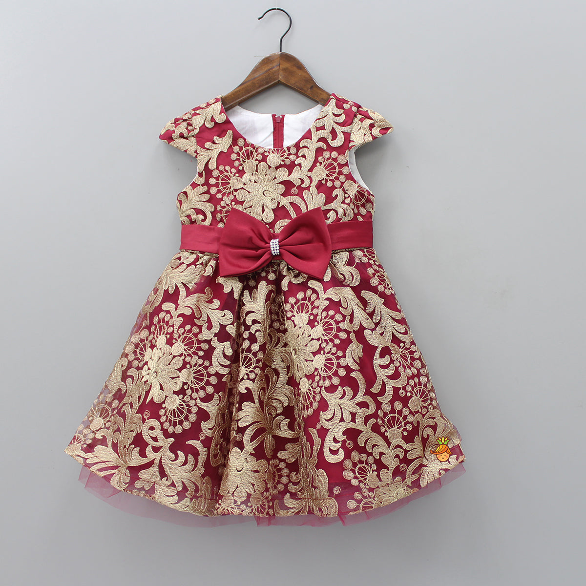 Red Thread Work Dress
