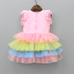 Multicoloured Frilly Dress