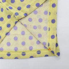 Yellow Polka Print Shimmer Top