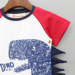 Red And White Dino Tee