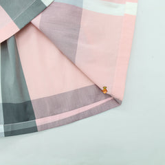 Pink Checks Maze Knee Length Dress