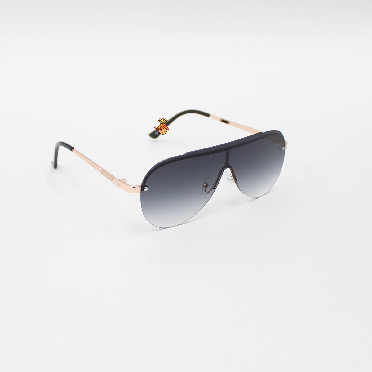 Stylish Black Rimless Sunglasses
