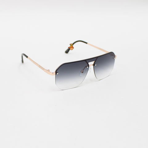 Polygon Shaped Black Sunglasses