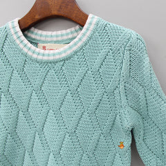 Turquoise Blue Knitted Sweater