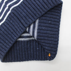Navy Blue Striped Sweater