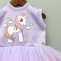 Purple Rainbow Unicorn Dress